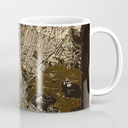 Central Park 1947, old vintage map, map poster new york Coffee Mug