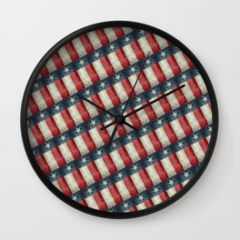 Vintage Texas flag pattern Wall Clock