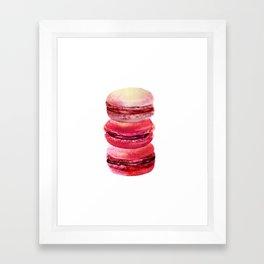 pink macaron stack Framed Art Print