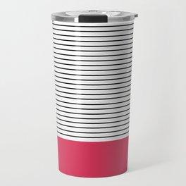 MINIMAL Pink Stripes Travel Mug