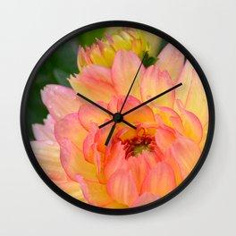 """Coral Tipped"" Dahlia by Teresa Thompson Wall Clock"