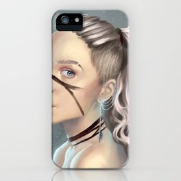 Woman with face paint iPhone Case