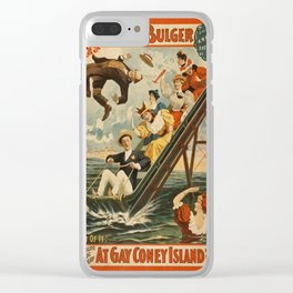 Vintage poster - Coney Island Clear iPhone Case