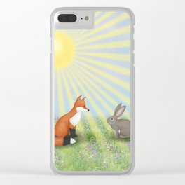 fox and bunny Clear iPhone Case