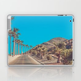 Andalusia street with palm trees at sunset. Retro toned Laptop & iPad Skin