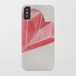 Crystal/Origami Heart iPhone Case