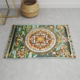 Buddhist Mandala White Tara Rug