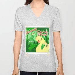 greetings from chocobo forest Unisex V-Neck