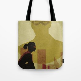 Who is the man in the bowler? Superheroes SF Tote Bag