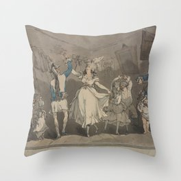 Rowlandson Thomas  Wild Irish or Paddy from Cork with his coat buttoned behind Throw Pillow
