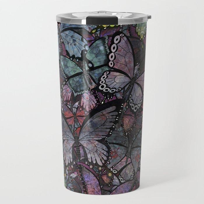 butterflies galore noir version Travel Mug