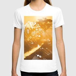 African portrait yellow T-shirt