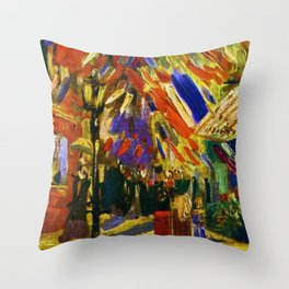 Fourteenth of July Celebration in Paris by Vincent van Gogh Throw Pillow