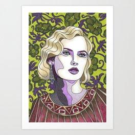 Nouveau Chartreuse Art Print
