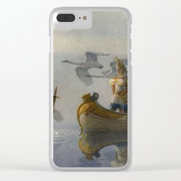 King Arthur and Excalibur Clear iPhone Case
