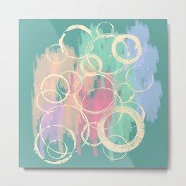 Fascinating circles Metal Print