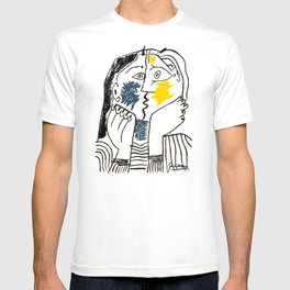 Pablo Picasso Kiss 1979 Artwork Reproduction For TShirts, Framed Prints T-shirt