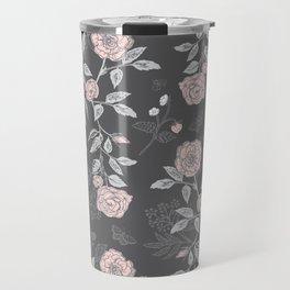 Bramble Roses Dark Floral Travel Mug