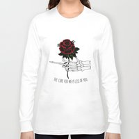 the cure Long Sleeve T-shirts featuring the cure for me by Mike Avery Draws