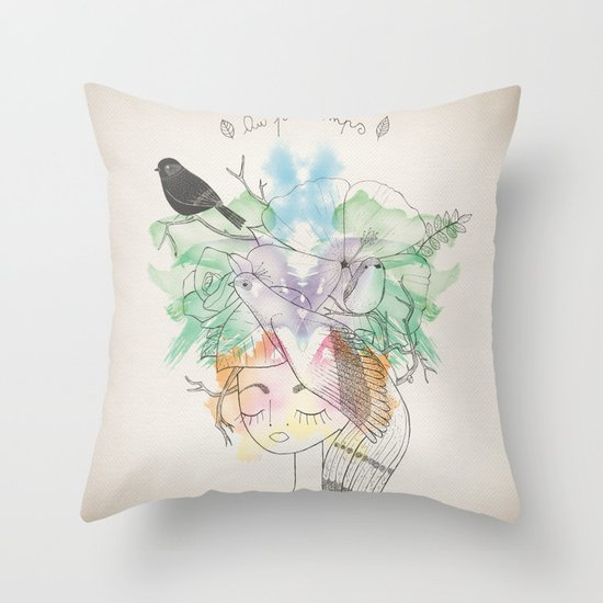Au Printemps Throw Pillow