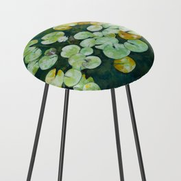 Tranquil lily pond Counter Stool