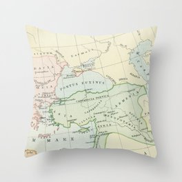 Old Map of The Roman Empire Throw Pillow