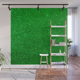 Emerald Green Shiny Metallic Glitter Wall Mural