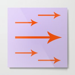 Orange You Glad I Added Arrows (Lilac/Purple Background) Metal Print