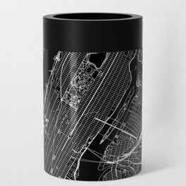 New York City Black Map Can Cooler