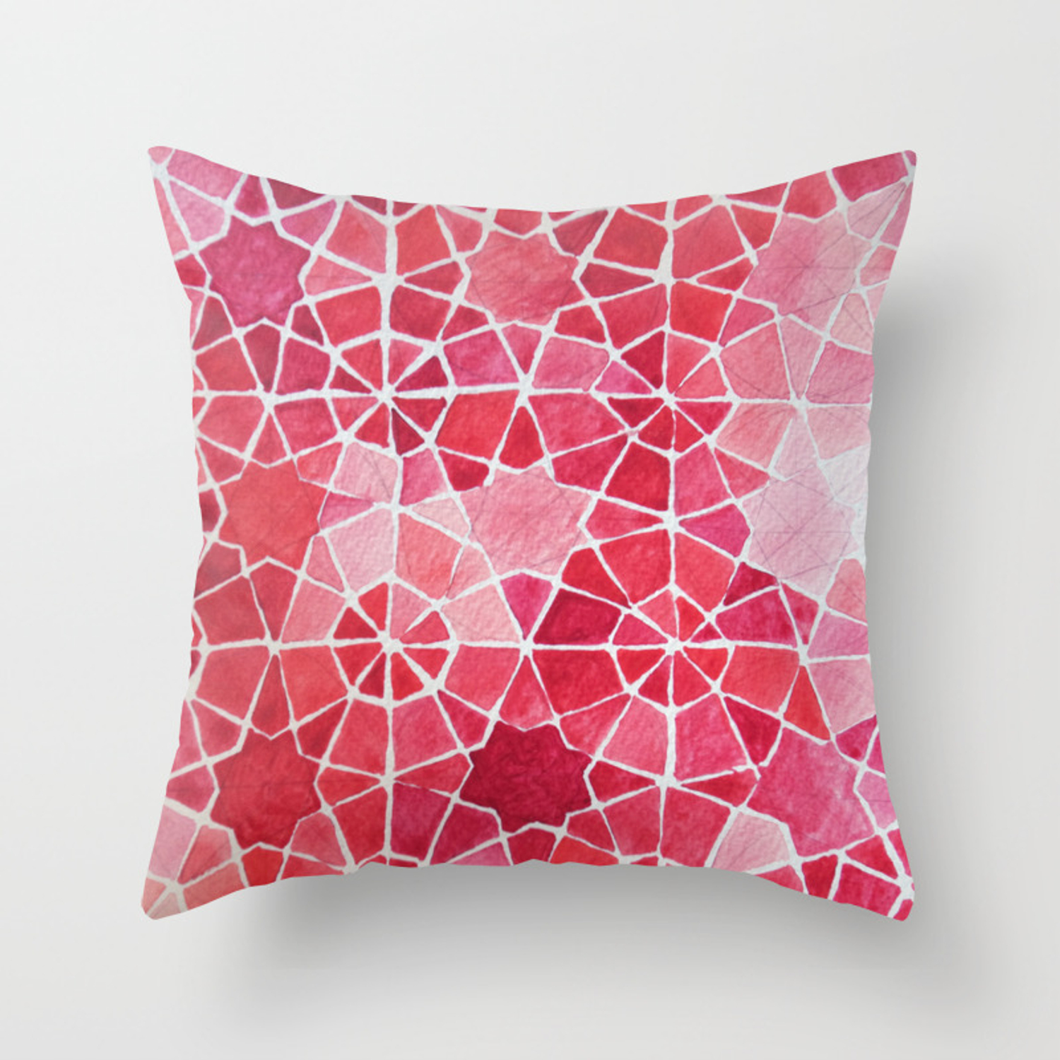 Red Morocco Throw Pillow By Cecileguillo Society6