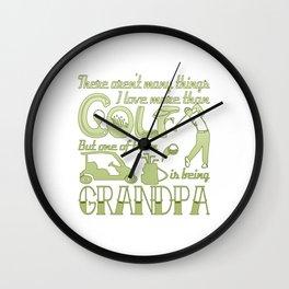 Golf Grandpa Wall Clock