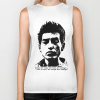 woodstock Biker Tanks featuring Bob Dylan Things Have Changed by Fligo