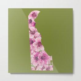 Delaware in Flowers Metal Print