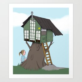 Little  treehouse Art Print