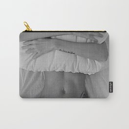 Mission: Get out of bed ... Status: Close enough! black and white morning photograph / photography Carry-All Pouch