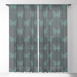 Mechanical Butterfly Sheer Curtain