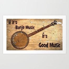 Banjo Music Art Print