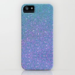 BLUE GLITTER iPhone Case