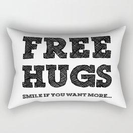 Free Hugs Smile if You Want More Rectangular Pillow