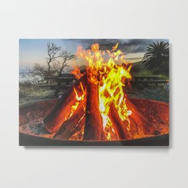 Fire On Refugio Metal Print