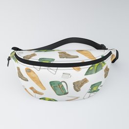 Watercolor camping pattern Fanny Pack