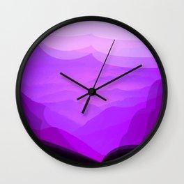 Purple Mountains Wall Clock