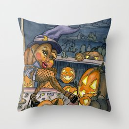 Pumpkin Stripper Throw Pillow