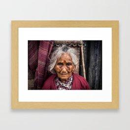 Kathmandu, Nepal Woman Framed Art Print