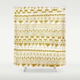Fun (gold version) Shower Curtain