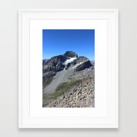 archan nair Framed Art Prints featuring Piz Nair View by Helle Gade