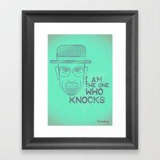 Breaking Bad - Faces - Heisenberg Framed Art Print