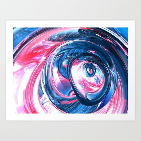 pinkvsblue Art Print