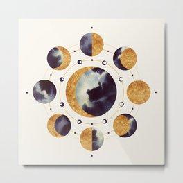Lunar Light Metal Print