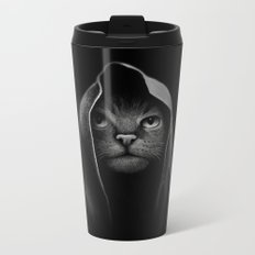 Cat portrait Metal Travel Mug